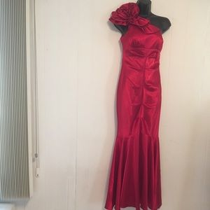 Beautiful red Cinderella evening dress XS.